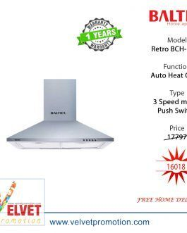 Baltra Kitchen Chimney Retro BCH-114P Sliver