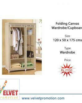 Folding Canvas Wardrobe/Cupboard (120 x 50 x 175 cms)
