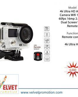 4k Ultra HD Action Camera Wifi 1080p 60fps 16mp 2.0 Inch Dual Screen With Remote