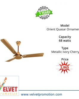 Orient Quasar Ornamental(Decorative Ceiling Fan)