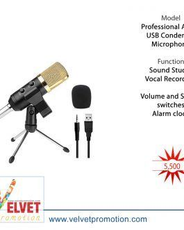 Professional Audio USB Condenser Microphone Kit Set Sound Studio Recording Vocal Microphone Mic With Stand Mount Anti Wind Foam