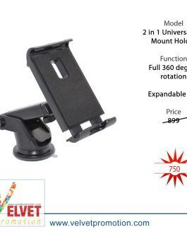 2 in 1 Universal Car Mount Holder For iPhone X/8/8 Plus/7/7 Plus-Black