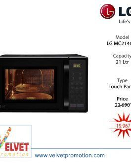 LG MC2146BL 21 Ltr Convection Microwave Oven – (Black)