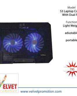 S3 Laptop Cooler With Dual Fan