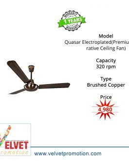 Orient Quasar Electroplated(Premium Decorative Ceiling Fan)