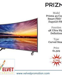 Prizma 43″ Curved Smart FHD TV D430LS-FHD