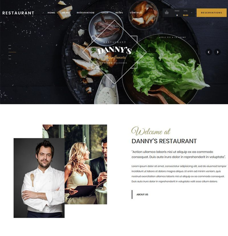 TF – Restaurant Website September 2019