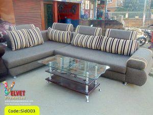 Sid003 Corner Sofa  in Gray