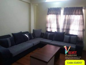 Corner Sofa in  Grey Sid007
