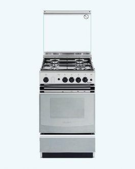 Elba Gas Cooker 55 X 220 with gas oven Stainless Steel 50cm