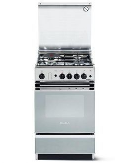 Elba Gas Cooker N55X340 Dual Fuel Single Cavity Freestanding Cooker in Stainless Steel