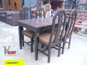 4 seater Black Dinning table