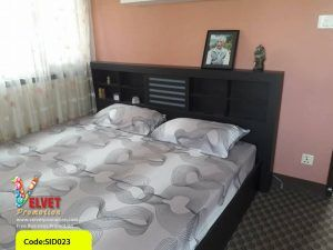 Well Furnished Black Bed