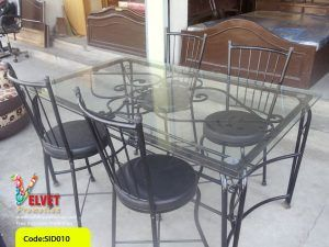 Transparent Rectangle Dinning Table