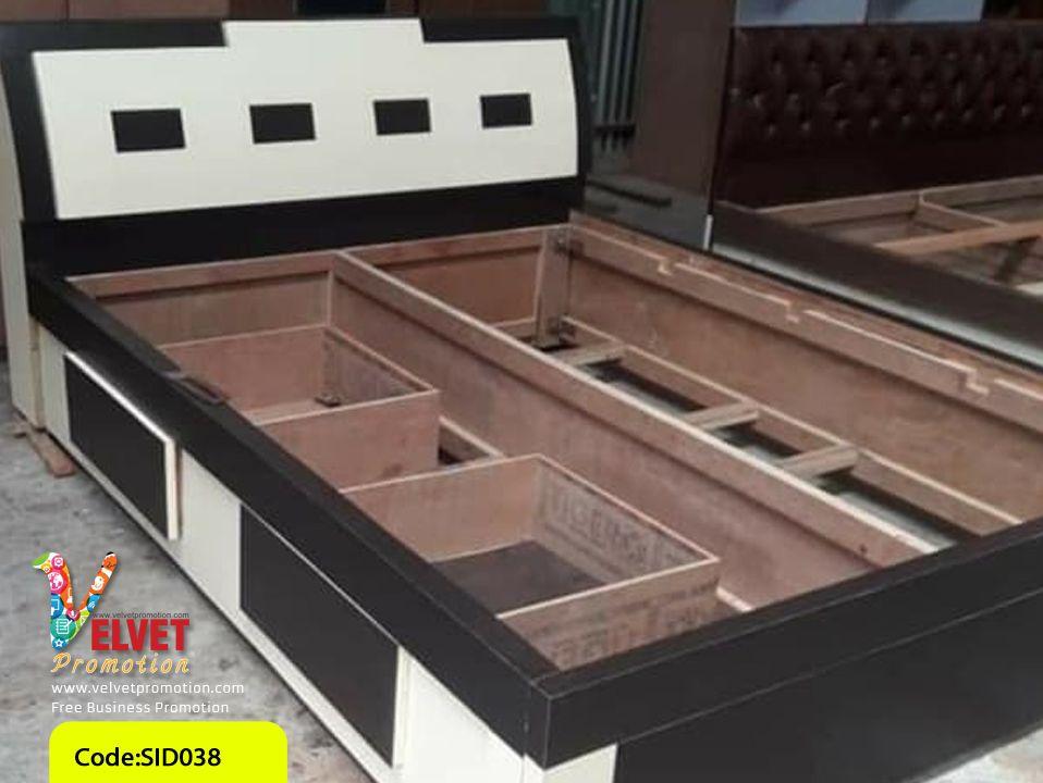 Black Stylish Bed  Sid0038