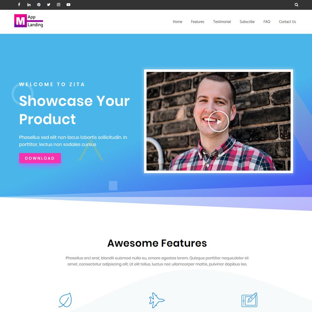 App Landing – Beautiful App Website
