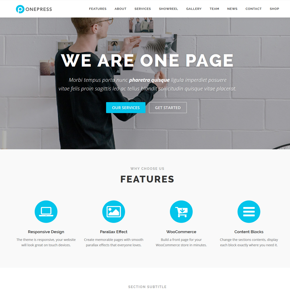 Onepress – Beautiful Company Website