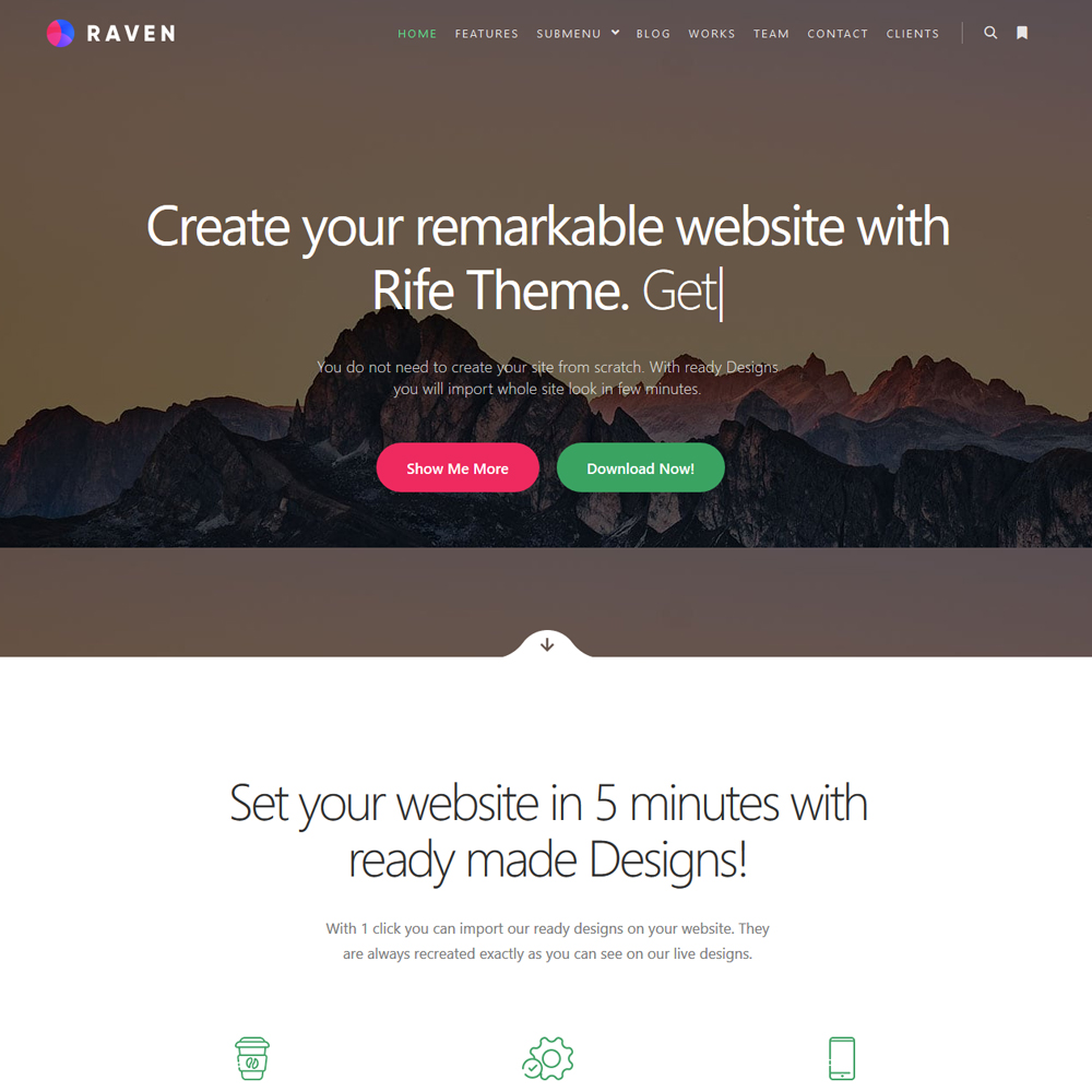 Raven – Beautiful Company Website