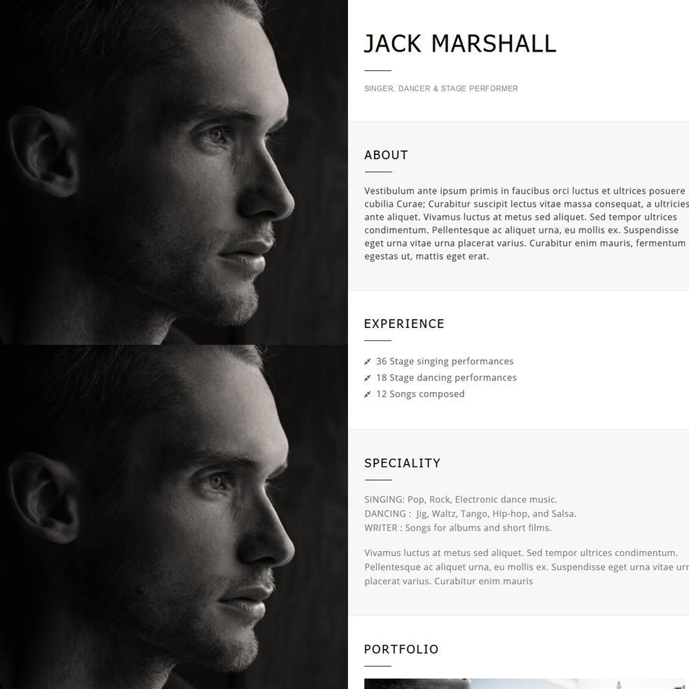 Resume – Beautiful Profile Website