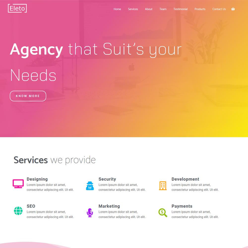 Eleto – Beautiful agency Website