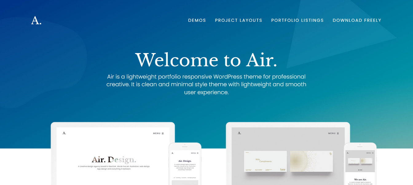 Portfolio Air – Best Creative Office Portfolio WordPress Theme